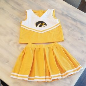 Girls size 4 Iowa Hawkeyes Cheerleading outfit